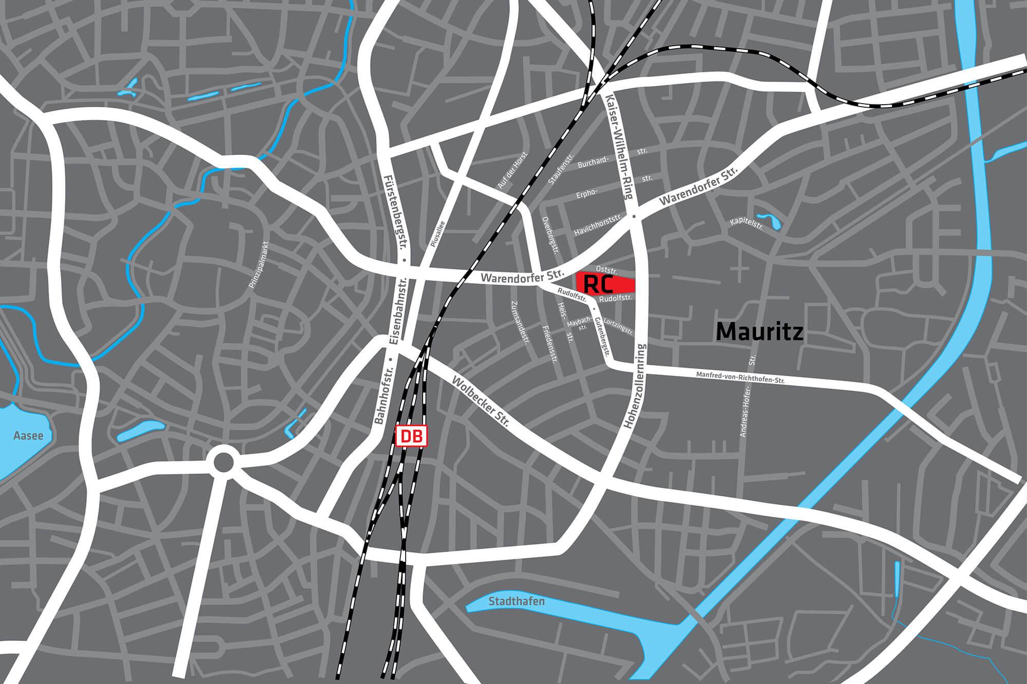 Lageplan Mauritz